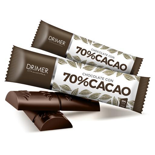Barra de Chocolate 70% CACAO (20grs)