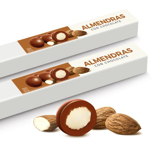 Tubo Almendras con Chocolate