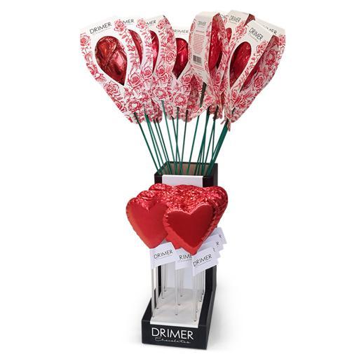 Florero rosas y chupetines