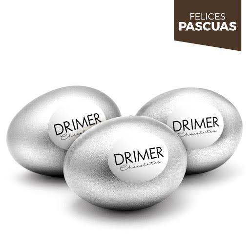 Huevo de Pascua Nº2 PLATA - 5cm