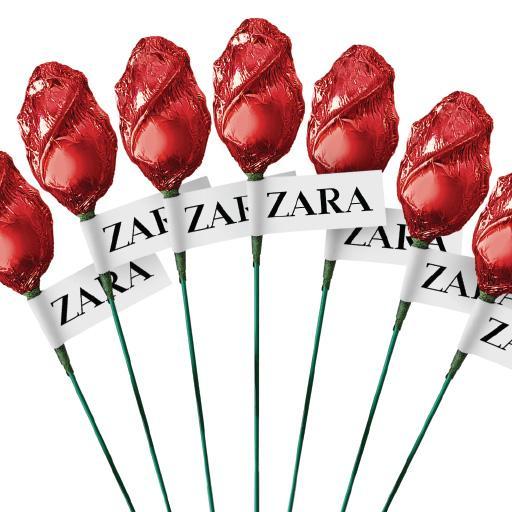 Rosas de chocolate con logo personalizado