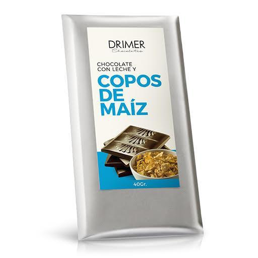 Tableta LECHE y copos de maiz